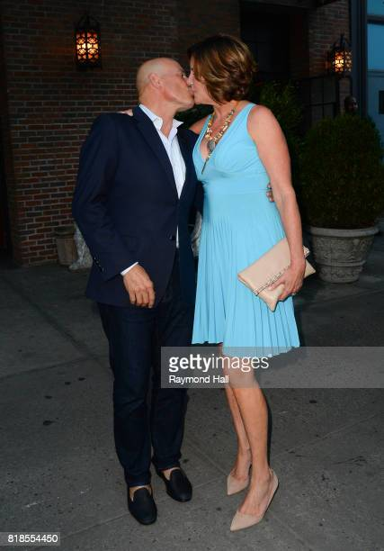 Tom D'Agostino Jr and LuAnn de Lesseps are seen kissing in Soho on July 18 2017 in New York City