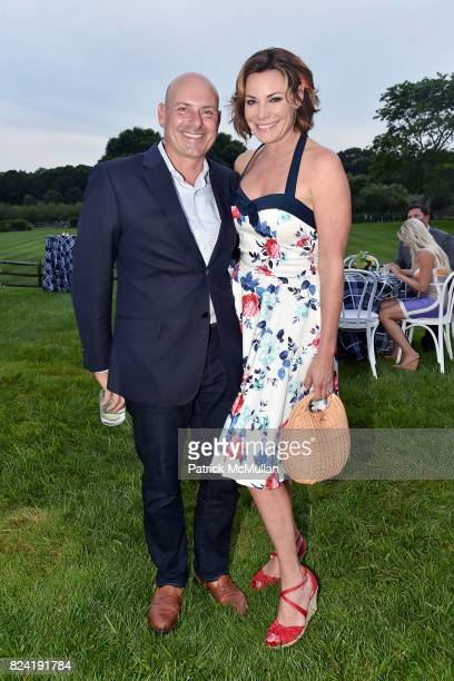 Tom D'Agostino Jr and Luann de Lesseps attend Alzheimer's Association Hosts Rita Hayworth Gala Hamptons Kickoff Event at Private Residence on July 28...