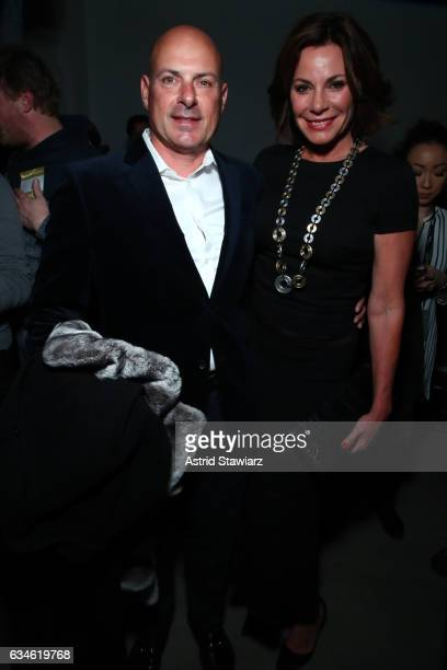 Tom D'Agostino Jr and Luann de Lesseps attend the Nicole Miller collection Front Row during New York Fashion Week The Shows at Gallery 2 Skylight...