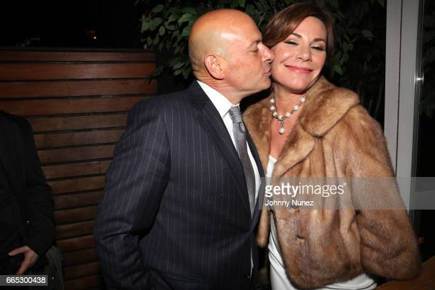 Tom DAgostino Jr and Luann de Lesseps attend 'The Real Housewives Of New York City' Season 9 Premiere Party at The Attic Rooftop Lounge on April 5...