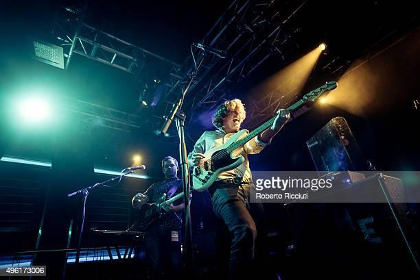 Tom Dakin and George Waite of The Crookes perform on stage at The Liquid Room on November 7 2015 in Edinburgh Scotland