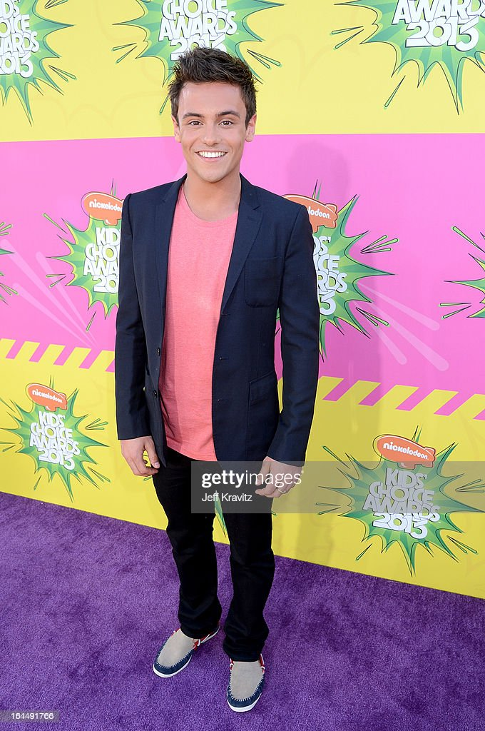Tom Daley arrives at Nickelodeon's 26th Annual Kids' Choice Awards at USC Galen Center on March 23, 2013 in Los Angeles, California.
