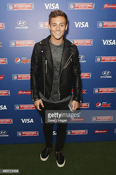 Tom Daley attends the annual NFL International Series as the Detroit Lions compete against the Kansas City Chiefs at Wembley Stadium on November 1...
