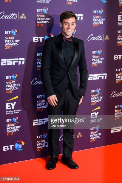 Tom Daley attends the BT Sport Industry Awards at Battersea Evolution on April 27 2017 in London England