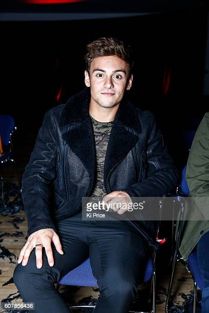 Tom Daley attends the Vin Omi show during London Fashion Week Spring/Summer collections 2017 on September 19 2016 in London United Kingdom