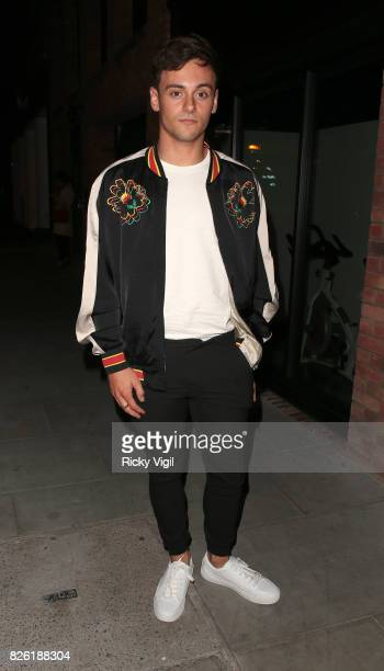 Tom Daley attends the #YSLBeautyClub party in collaboration with Sink The Pink at The Curtain on August 3 2017 in London England
