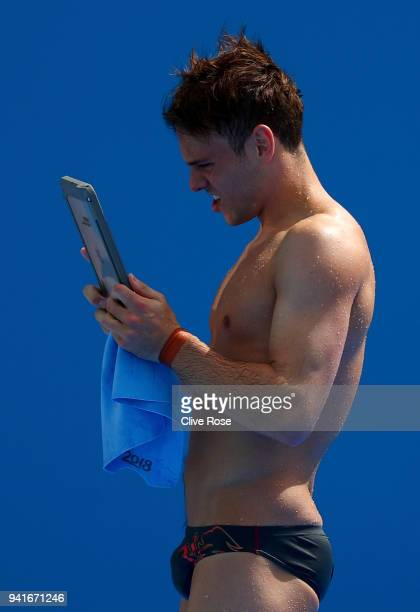Tom Daley of England looks on during a diving training session ahead of the 2018 Commonwealth Games on April 4 2018 in Gold Coast Australia