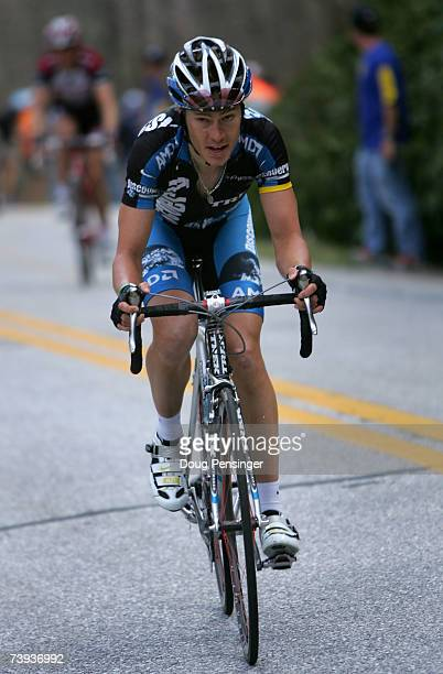 Tom Danielson of the USA and riding for the Discovery Channel Pro Cycling Team makes the final climb as he finished second in Stage Five of the Tour...