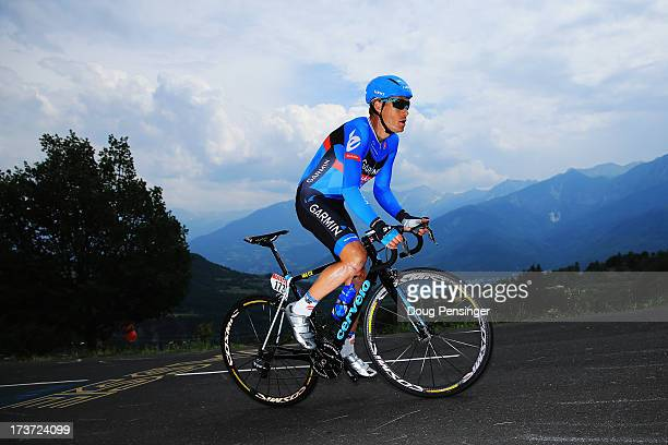 Tom Danielson of the Usa and Team Garmin-Sharp rides during stage seventeen of the 2013 Tour de France, a 32KM Individual Time Trial from Embrun to...