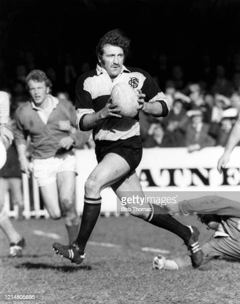 Tom David of Wales in action for the Barbarians during the Mobbs Memorial match against the East Midlands at Franklins Gardens in Northampton England...