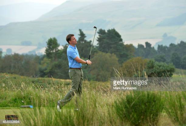 Tom Davies of Celtic Manor Resort Ltd in action during the second round of the Lombard Trophy Grand Final at Gleneagles on September 3 2014 in...