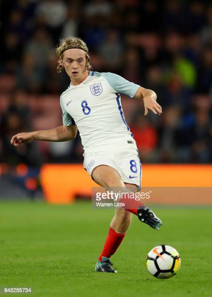 Tom Davies of England in action during the UEFA Under 21 Championship Qualifiers between England and Latvia at the Vitality Stadium on September 5...
