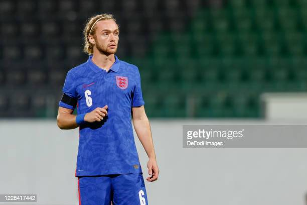 Tom Davies of England looks on during the UEFA Euro Under 21 Qualifier match between Austria U21 and England U21 at Keine Sorgen Arena on September 8...