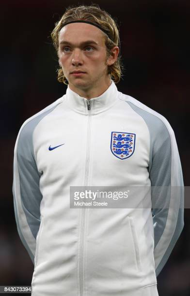 Tom Davies of England U21's during the UEFA Under 21 Championship Qualifier match between England and Latvia at the Vitality Stadium on September 5...