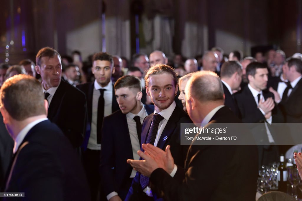 Tom Davies of Everton during the Everton in the Community Gala Dinner at St George's Hall on February 13, 2018 in Liverpool, England.