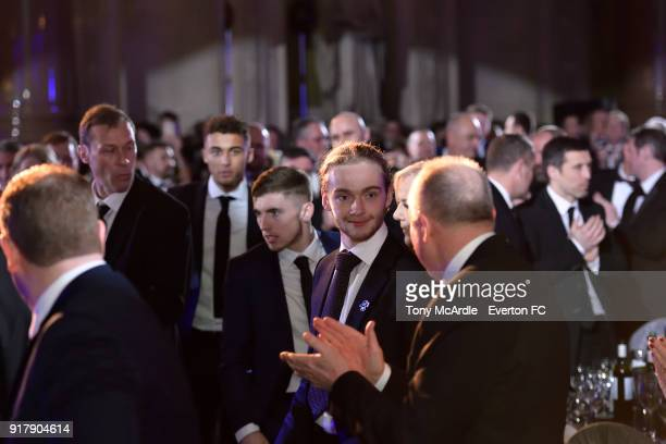 Tom Davies of Everton during the Everton in the Community Gala Dinner at St George's Hall on February 13 2018 in Liverpool England
