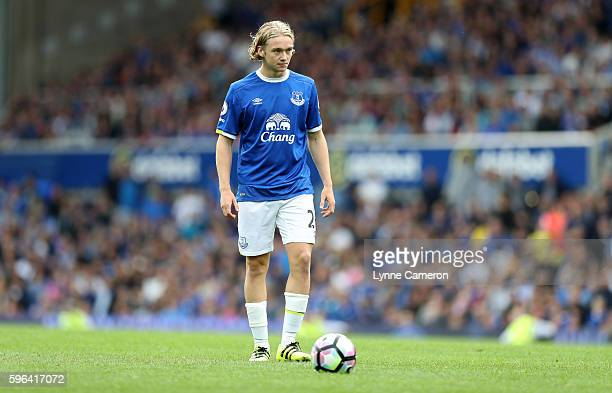 Tom Davies of Everton during the Premier League match between Everton and Stoke City at Goodison Park on August 27 2016 in Liverpool England