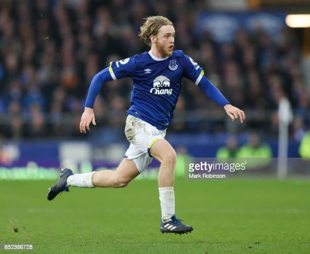 Tom Davies of Everton during the Premier League match between Everton and West Bromwich Albion at Goodison Park on March 11 2017 in Liverpool England