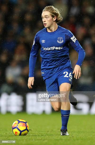 Tom Davies of Everton during the Premier League match between West Bromwich Albion and Everton at The Hawthorns on December 26 2017 in West Bromwich...