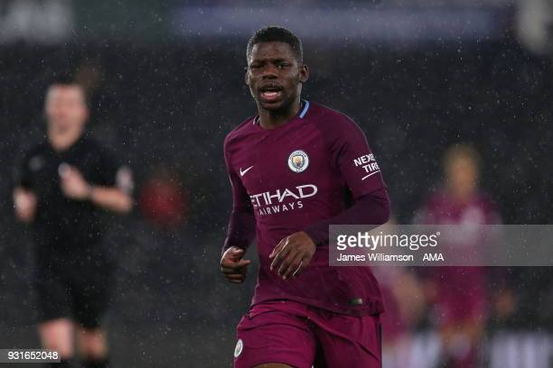 Tom DeleBashiru of Manchester City during the Premier League 2 match between Derby County and Manchester City on March 9 2018 in Derby England