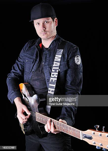 Tom DeLonge guitarist and vocalist of American pop punk band Blink182 photographed during a portrait shoot for Total Guitar Magazine/Future via Getty...