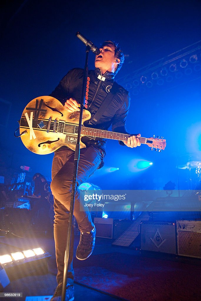 Tom DeLonge of Angels & Airwaves performs at the Lifestyle Communities Pavilion on April 22, 2010 in Columbus, Ohio.