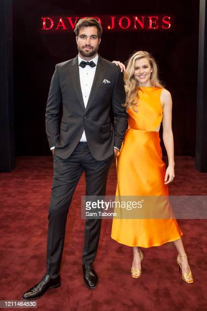 Tom Derickx and Victoria Lee attends the Melbourne Fashion Festival Plaza Reveal on March 10 2020 in Melbourne Australia