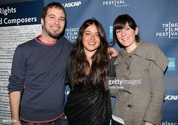 Tom Desavia of ASCAP and musician Rachael Yamagata at the Tribeca ASCAP Music Lounge held at the Canal Room during the 2008 Tribeca Film Festival on...