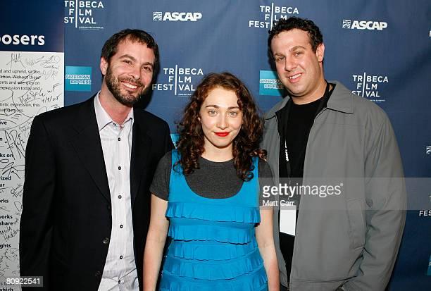 Tom Desavia of ASCAP musician Regina Spektor and Jason Silberman of ASCAP pose during the Tribeca ASCAP Music Lounge at the 2008 Tribeca Film...