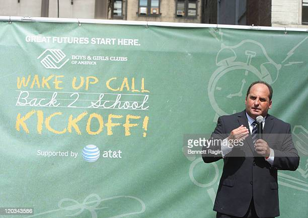 Tom Devito Vice President and General Manager for ATT New York/New Jersey attends the Back to School season kickoff in Union Square on August 4 2011...