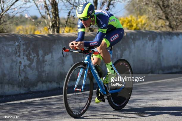 Tom Devriendt of Wanty Groupe Gobert during the 3rd stage of the cycling Tour of Algarve between Lagoa and Lagoa on February 16 2018