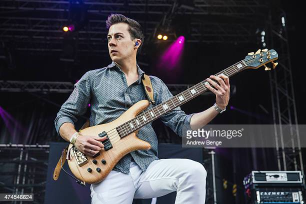 Tom Doyle of Don Broco performs on stage during the Slam Dunk Festival 2015 at Millennium Square on May 23 2015 in Leeds United Kingdom