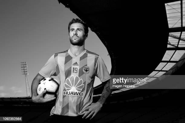 Tom Doyle poses during a Wellington Phoenix training session at Westpac Stadium on January 11 2019 in Wellington New Zealand