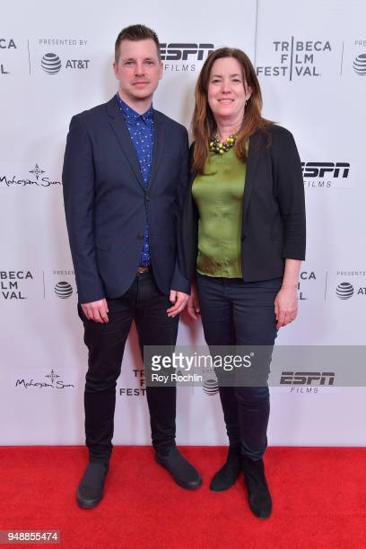 Tom Dumican and Molly Thompson attend a screening of 'No Greater Law' during the 2018 Tribeca Film Festival at Cinepolis Chelsea on April 19 2018 in...