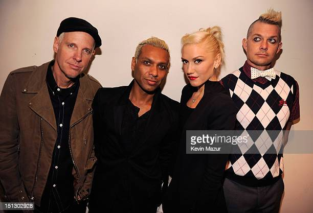 Tom Dumont, Tony Kanal, Gwen Stefani and Adrian Young of No Doubt attend the 2012 NFL Kick-Off Concert in Rockefeller Center on September 5, 2012 in...
