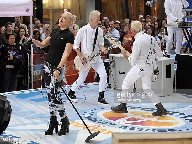 Tom DumontGwen Stefani and Tony Kanal of No Doubt perform on NBC's Today at Rockefeller Center on May 1 2009 in New York City