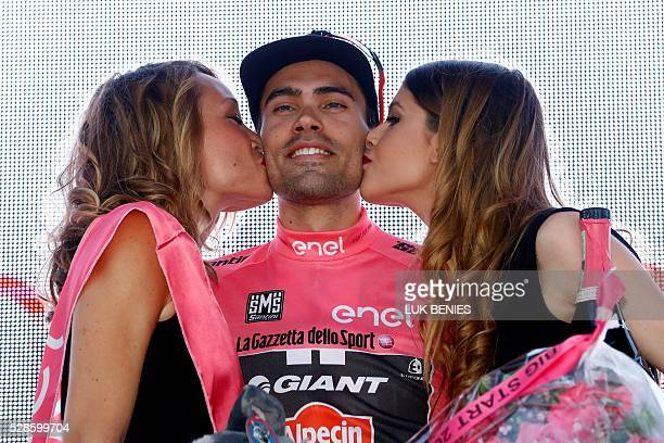 Tom Dumoulin from the Netherlands of Team Giant Alpecin competes during the first stage of the Giro d'Italia 2016 at Apeldoorn Netherlands on May 6...