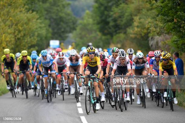Tom Dumoulin of The Netherlands and Team Jumbo - Visma / Davide Formolo of Italy and Team UAE Team Emirates / Tiesj Benoot of Belgium and Team Sunweb...