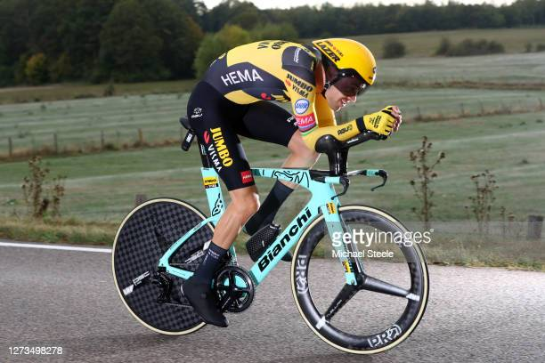 Tom Dumoulin of The Netherlands and Team Jumbo - Visma / during the 107th Tour de France 2020, Stage 20 a 36,2km Individual Time Trial stage from...
