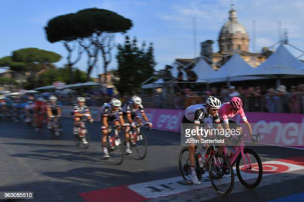 Tom Dumoulin of The Netherlands and Team Sunweb / Christopher Froome of Great Britain Pink Leader Jersey / during the 101st Tour of Italy 2018, Stage...