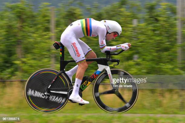 Tom Dumoulin of The Netherlands and Team Sunweb / during the 101st Tour of Italy 2018 Stage 16 a 342km Individual Time Trial stage from Trento to...