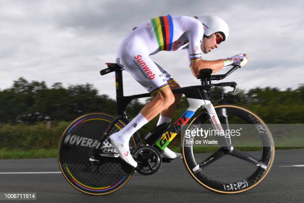 Tom Dumoulin of The Netherlands and Team Sunweb / during the 105th Tour de France 2018, Stage 20 a 31km Individual Time Trial stage from...