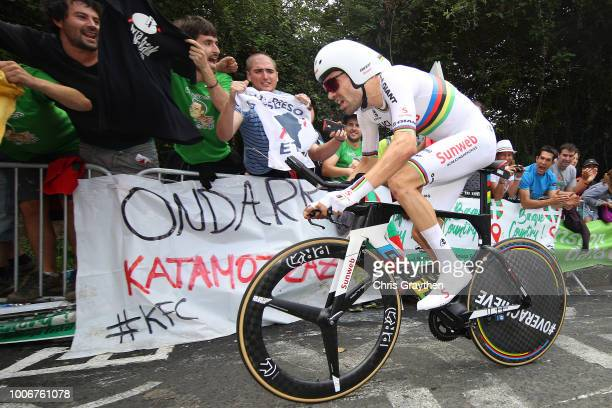 Tom Dumoulin of The Netherlands and Team Sunweb / during the 105th Tour de France 2018 Stage 20 a 31km Individual Time Trial stage from...