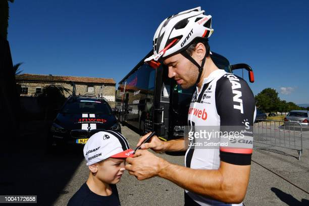 Tom Dumoulin of The Netherlands and Team Sunweb / Fans / Public / chiqduring the 105th Tour de France 2018 / Training Team Sunweb / TDF / Rest day /...