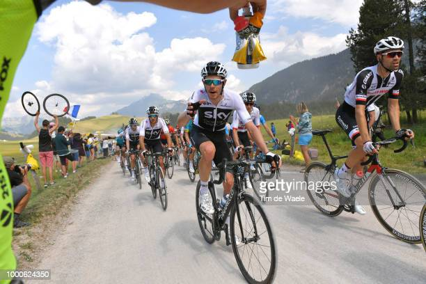 Tom Dumoulin of The Netherlands and Team Sunweb / Luke Rowe of Great Britain and Team Sky / Gianni Moscon of Italy and Team Sky / Feed Zone / Col Des...
