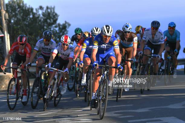 Tom Dumoulin of The Netherlands and Team Sunweb / Peter Sagan of Slovakia and Team BoraHansgrohe / Michal Kwiatkowski of Poland and Team Sky / Julian...