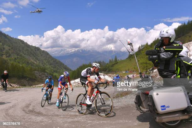 Tom Dumoulin of The Netherlands and Team Sunweb / Thibaut Pinot of France and Team GroupamaFDJ / Richard Carapaz of Ecuador and Movistar Team / Colle...