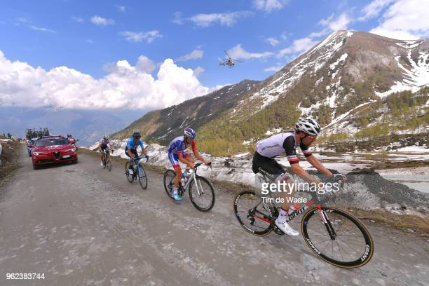 Tom Dumoulin of The Netherlands and Team Sunweb / Thibaut Pinot of France and Team GroupamaFDJ / Richard Carapaz of Ecuador and Movistar Team /...