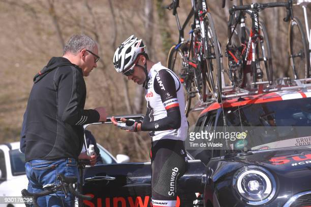 Tom Dumoulin of The Netherlands / Exit the race after crash during the 53rd TirrenoAdriatico 2018 Stage 4 a 219km stage from Foligno to Sarnano...