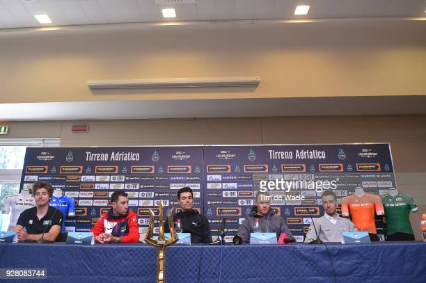 Tom Dumoulin of The Netherlands Peter Sagan of Slovakia Christopher Froome of Great Britain Vincenzo Nibali of Italy Fabio Aru of Italy attends the...